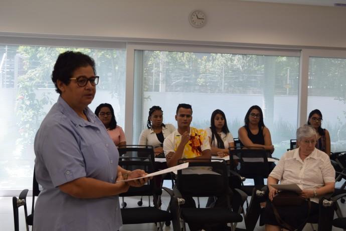 Educadoras na Semana Pedagógica do Consa
